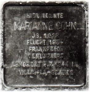 Marianne Cohn Plaque