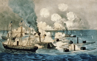 Battle of Mobile Bay Painting